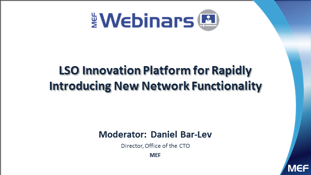 LSO Innovations Platform for Rapidly Introducing New Network Functionality