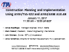 Construction Planning and Implementation Using ANSI/TIA-322 and ANSI/ASSE A10.48