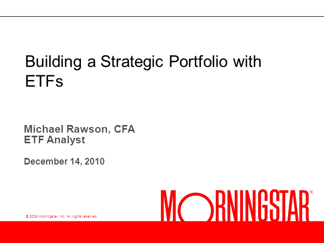 Building a Strategic Portfolio with ETFs