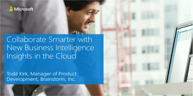 Collaborate Smarter with New Business Intelligence Insights in the Cloud