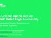 5 Critical Tips to Set Up SAP HANA High Availability