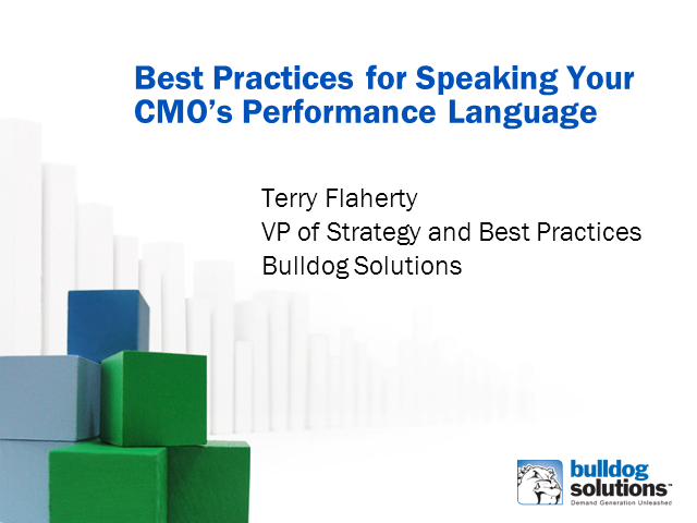 Best Practices for Speaking Your CMO's Performance Language