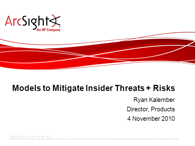 Models to Mitigate Insider Threats and Risks