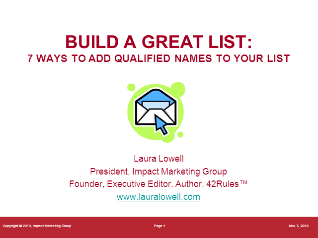Build a Great List - 7 Ways to Add Qualified Names to Your List