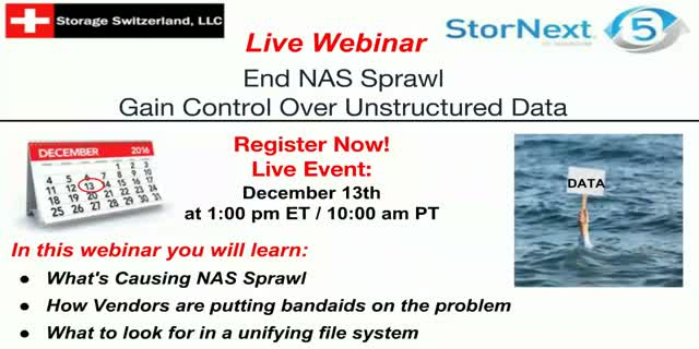 End NAS Sprawl - Gain Control Over Unstructured Data