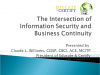 The Intersection of Information Security and Business Continuity