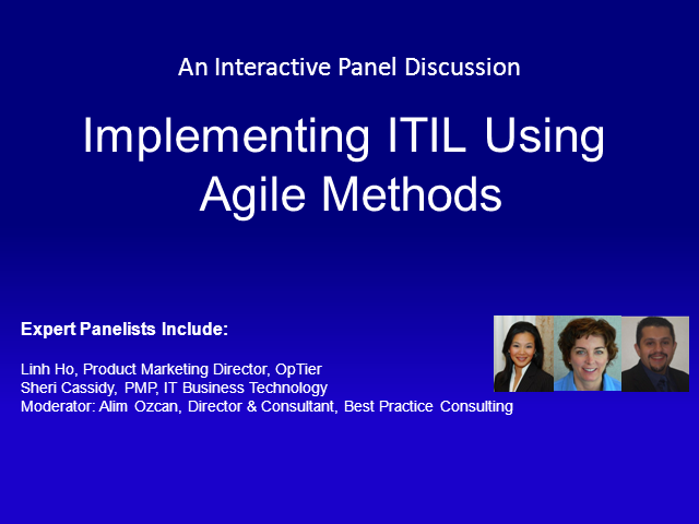 Implementing ITIL Using Agile Methods