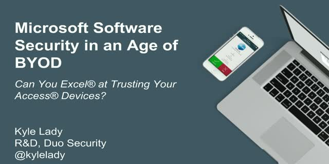 The State of Microsoft Software Security in the Age of BYOD