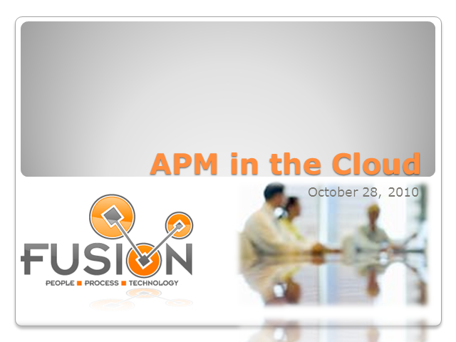 Application Performance Management in the Cloud