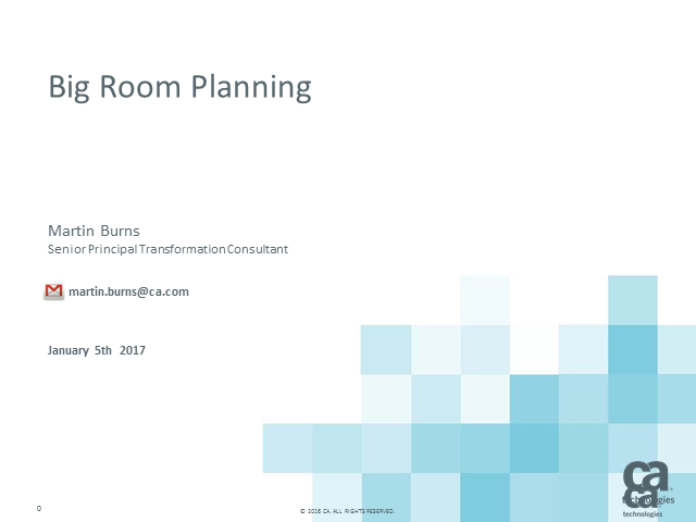 How to do Big Room Planning