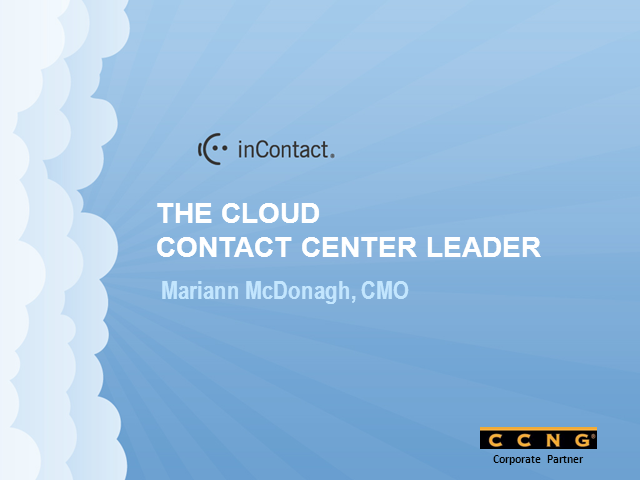 Introducing CCNG partner - inContact