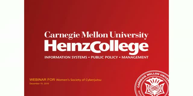 Meet & Learn: CMU's Heinz Cyber-Related Graduate Programs
