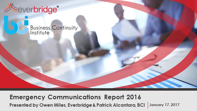 Latest trends revealed: The 2016 BCI Emergency Communications Report