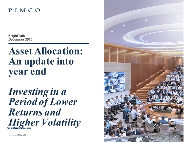 Asset Allocation Outlook – an update into 2017