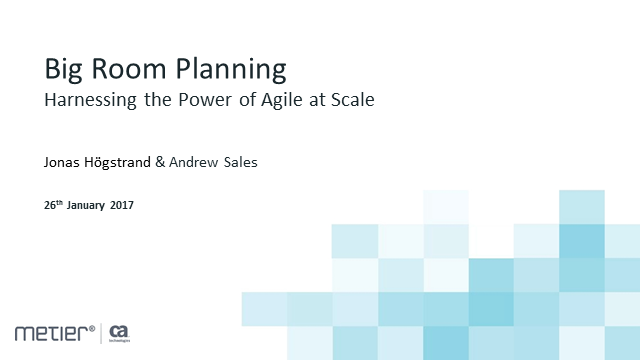 Big Room Planning: Harnessing the Power of Agile at Scale