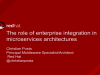 Understanding the Role of Enterprise Integration in Microservices Architectures