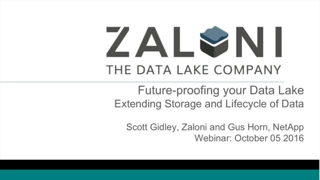Data Lifecycle Management in the Data Lake