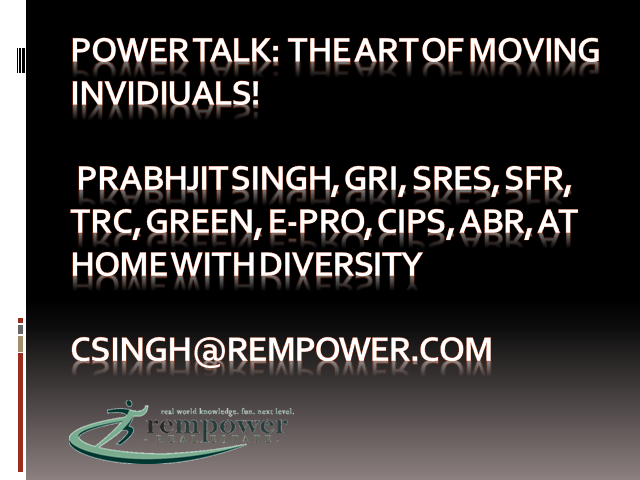 Power TALK: The Art of Moving Individuals!