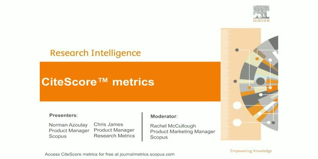 CiteScore metrics - now part of the Scopus basket of metrics