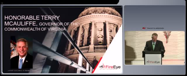 2016 FireEye Government Forum featuring Virginia Governor Terry McAuliffe