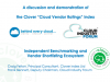 The Clover Cloud Vendor Ratings index – Benchmarking Cloud Service Providers