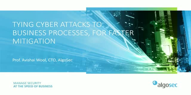 Tying cyber attacks to business processes, for faster mitigation