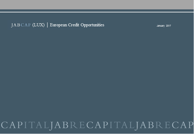 European Credit Opportunities - Overview and Outlook