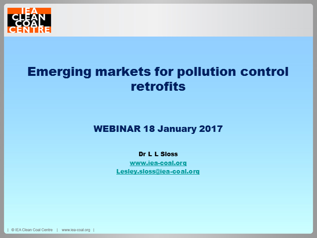 Emerging markets for pollution control technologies