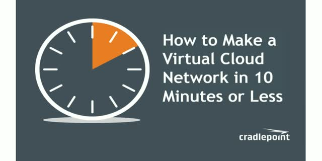 How to Make a Virtual Cloud Network in 10 Minutes or Less
