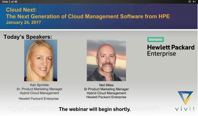 Cloud Next:  The next generation of Hybrid Cloud Management from HPE Software
