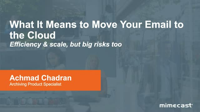 What It Means To Move Your Email To The Cloud
