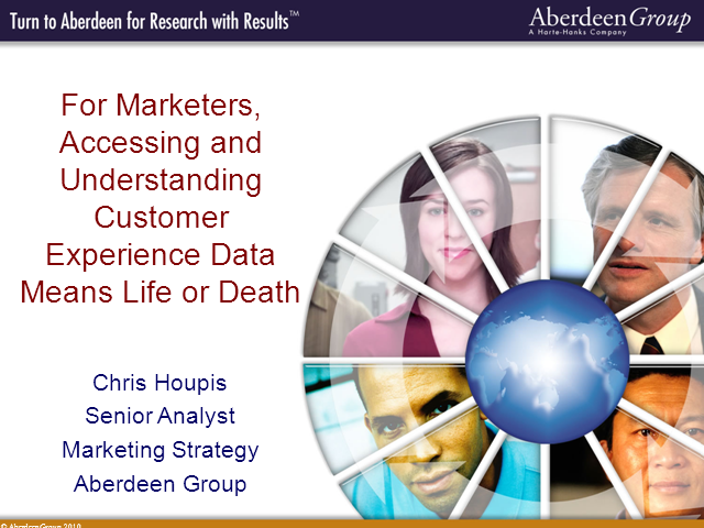Marketers' 2011 Agenda: Understanding Customer Experience Data