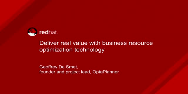 Deliver Real Value with Open Source Business Optimization Technology