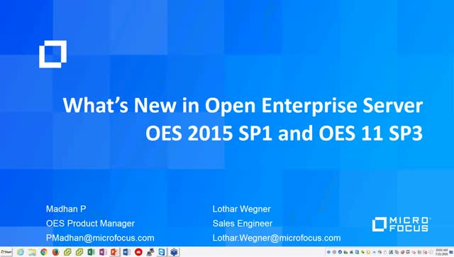 What's New and Improved with Open Enterprise Server 2015 SP1