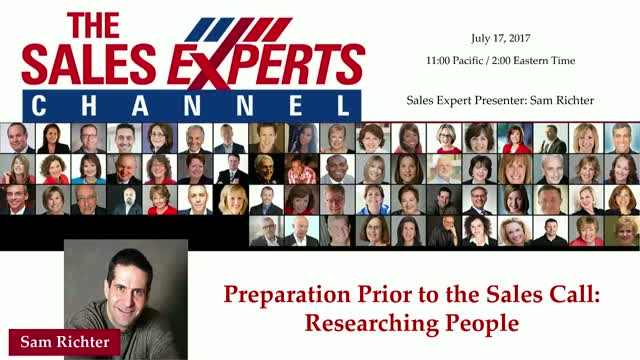 Preparation Prior to the Sales Call: Researching People