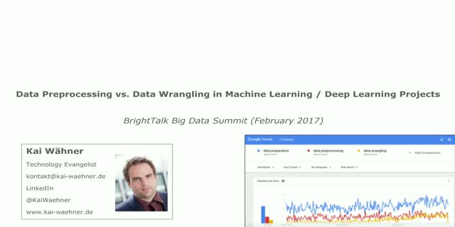 Comparison of ETL v  Streaming Ingestion,Data Wrangling in Machine/Deep Learning
