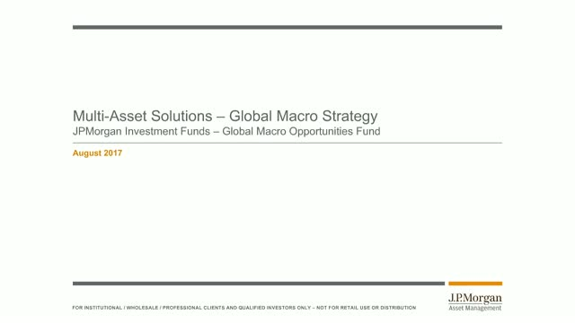 JPMorgan Investment Funds - Global Macro Opportunities Fund