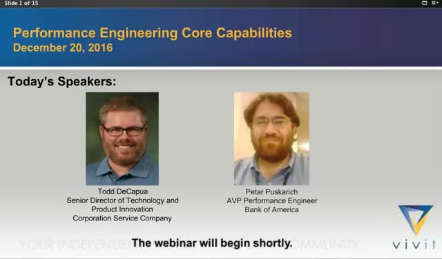 Performance Engineering Core Capabilities