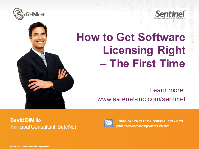 How to Get Software Licensing Right - The First Time