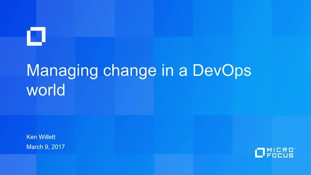 TechTalk: Managing Change in a DevOps World