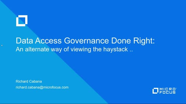 TechTalk: Data Access Governance Done Right