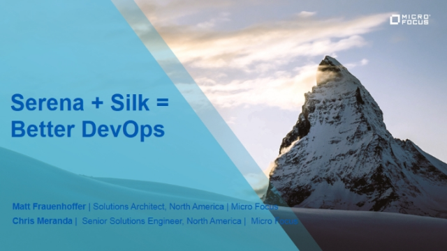 TechTalk: Serena + Silk = Better DevOps