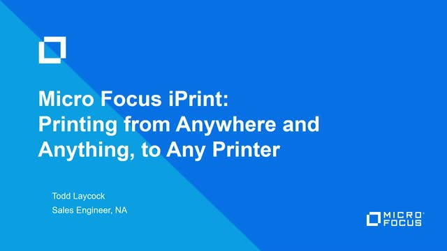TechTalk: Print Management from Anywhere and Anything, to Any Printer