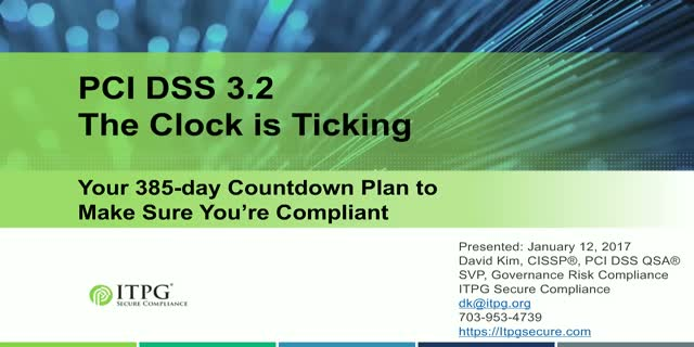 PCI DSS v3.2. A Fast Assessment to Identify What You Must Do to Comply