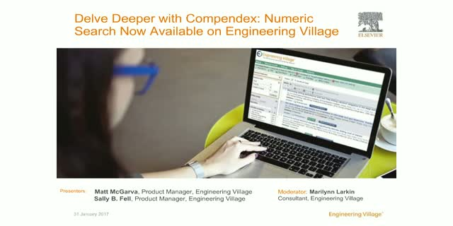 Delve Deeper with Compendex: Numeric Search Now Available on Engineering Village