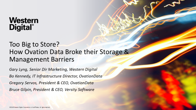 Too Big to Store? How Ovation Data Broke their Storage Barriers