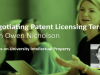 Negotiating patent licensing terms with Owen Nicholson