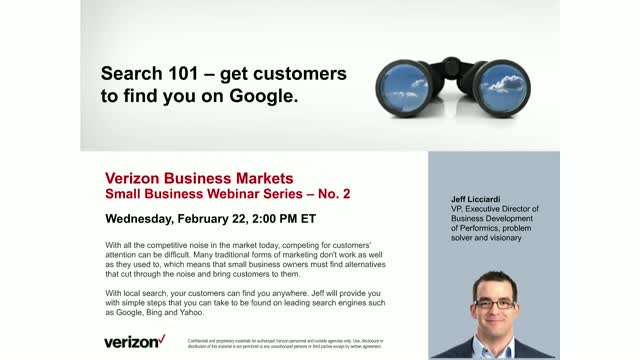 Search 101 - get customers to find you on Google.