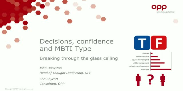 Decisions, confidence and MBTI Type: breaking through the glass ceiling