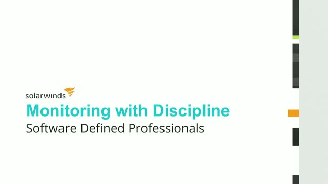 Monitor with Discipline: Software-Defined Professionals